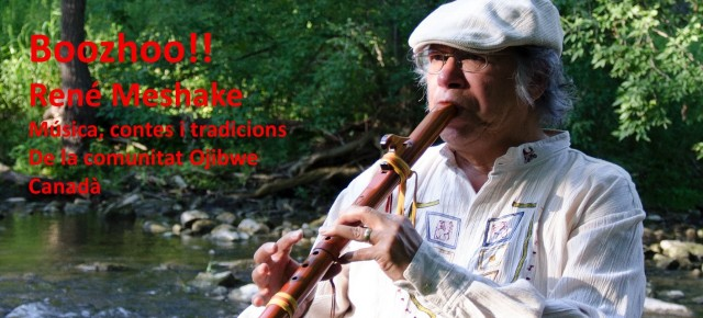 Boozhoo! René Meshake. Música, històries i tradicions de la cultura Ojibwe (Canadà) dissabte 5 de juliol a les 20h. Ajut 3 euros