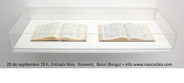 John Cage. Lecture on Nothing/ Conferencia sobre Nada. Orquestra del Caos . sábado 20 de septiembre en Konvent.0 Colonia Rosal, Berga