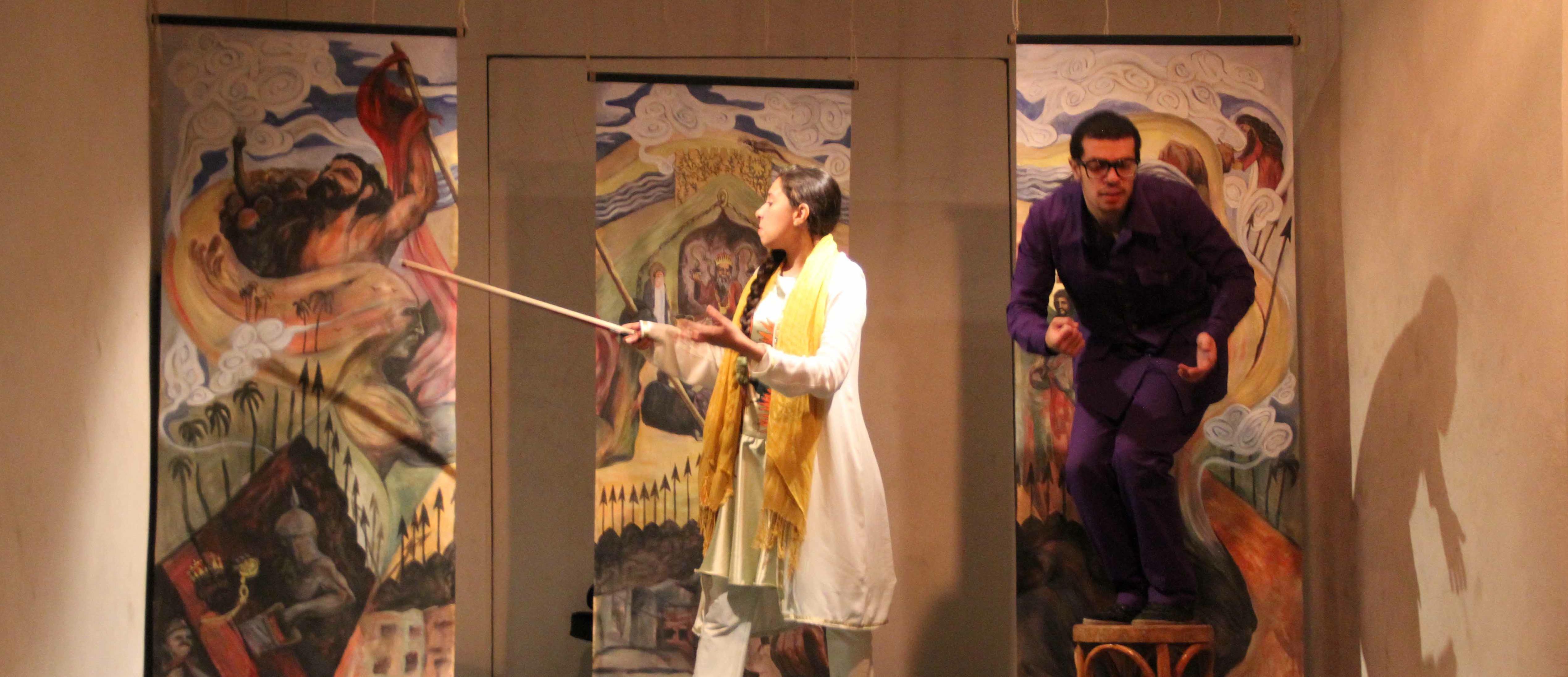 Naghali. Taller de narració oral persa. Sabry Zekry a Escola de Teatre El Galliner Girona 2-6 febrer 2015