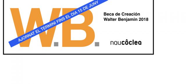 Ajornat el termini de la Beca Walter Benjamin 2018 Fins el 15 de juny