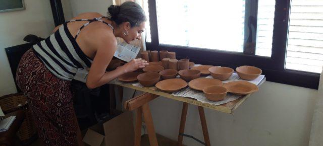 Vanessa Donoso. Ongoing Clay Project. 28 de setembre 2018 final de residència. Amb la col·laboració de Montse Seró