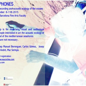 HYDROPHONES Workshop of underwater recording and creation october 8-11th 2015. Registrations open